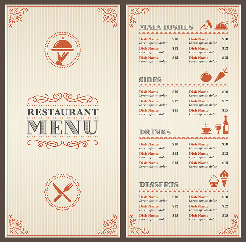 illustrazioni menu